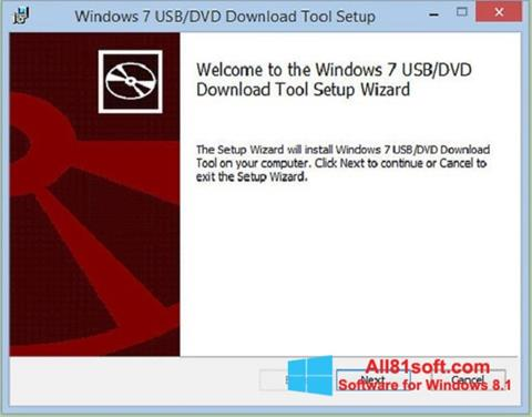 截圖 Windows 7 USB DVD Download Tool Windows 8.1