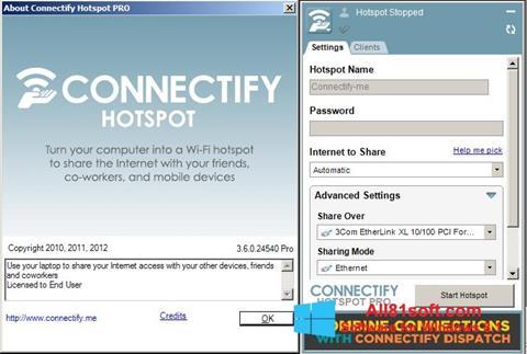 截圖 Connectify Windows 8.1