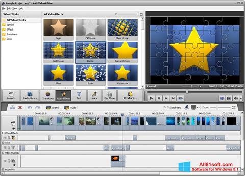 截圖 AVS Video Editor Windows 8.1