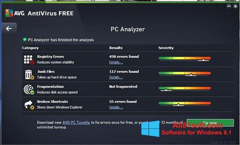 截圖 AVG AntiVirus Free Windows 8.1