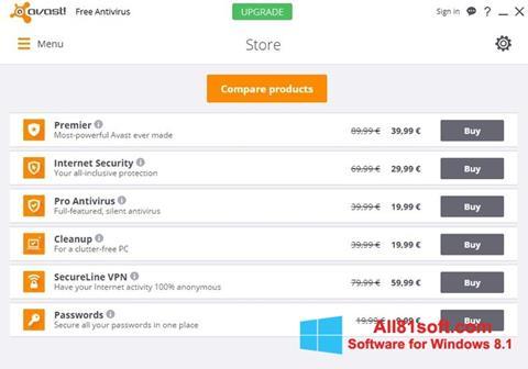 截圖 Avast Free Antivirus Windows 8.1
