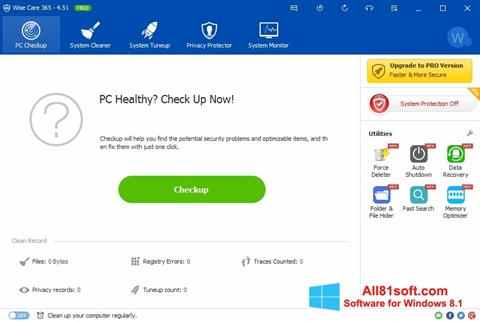 截圖 Wise Care 365 Windows 8.1