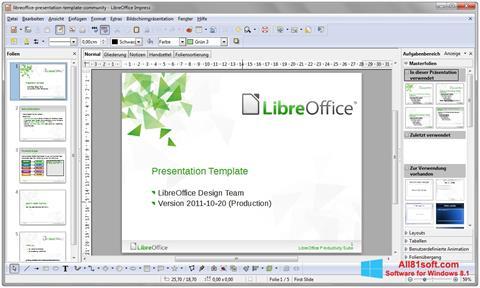 截圖 LibreOffice Windows 8.1