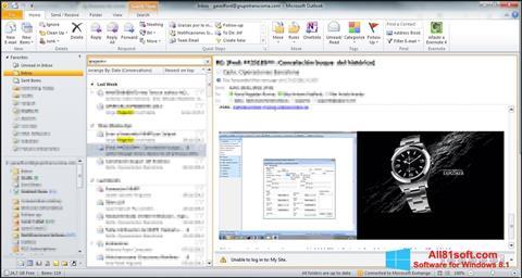 截圖 Microsoft Outlook Windows 8.1