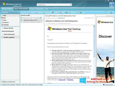 截圖 Windows Live Mail Windows 8.1