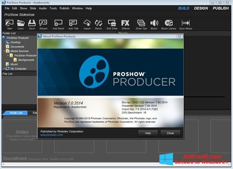 截圖 ProShow Producer Windows 8.1