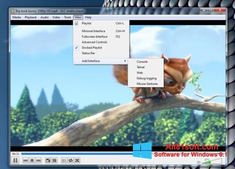 截圖 VLC Media Player Windows 8.1