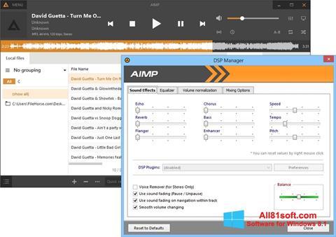 截圖 AIMP Windows 8.1