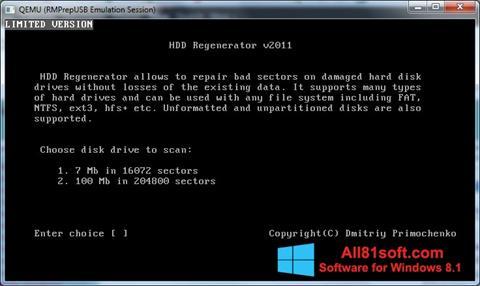 截圖 HDD Regenerator Windows 8.1