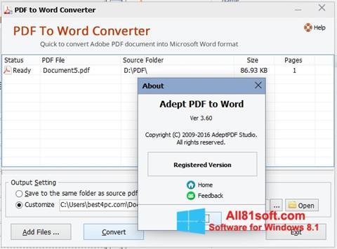 截圖 PDF to Word Converter Windows 8.1