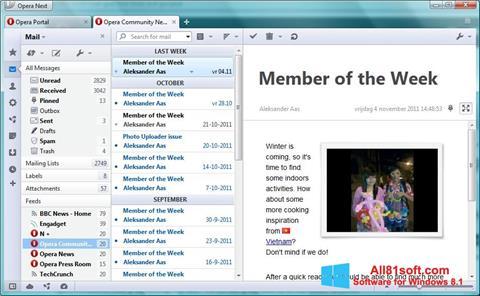 截圖 Opera Mail Windows 8.1