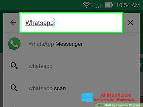 截圖 WhatsApp Windows 8.1