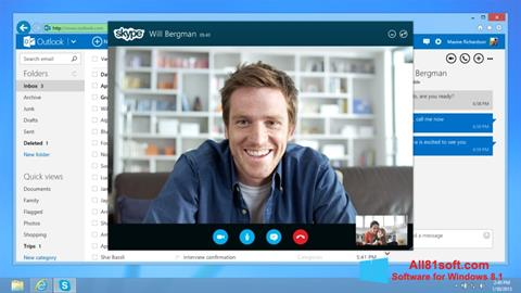 截圖 Skype Windows 8.1